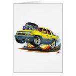 Camión amarillo de la avalancha tarjeta