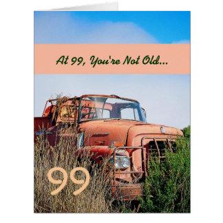 Camión anaranjado 99A del 99.o vintage feliz DIVER Tarjeta