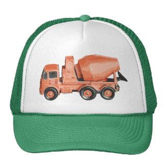 Camión anaranjado concreto del juguete del cemento gorras