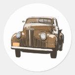 Camión antiguo 2 de Brown Etiqueta Redonda