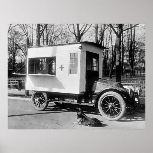 Camión antiguo de la cantina, los años 10 impresiones