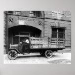 Camión antiguo de la cerveza, los años 20 impresiones