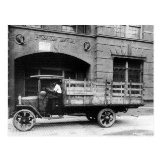 Camión antiguo de la cerveza, los años 20 tarjeta postal