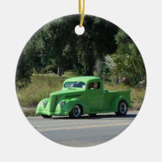 Camión antiguo ornamento para arbol de navidad