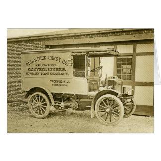 Camión antiguo Notecard del Co del caramelo de Tarjeta Pequeña