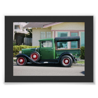 camión antiguo poster