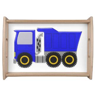 Camión azul bandejas