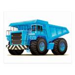 Camión azul grande