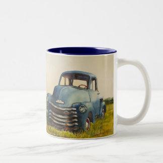 Camión azul, North Fork, taza de 11 onzas