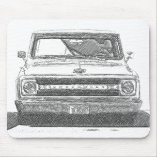 Camión bosquejado de Chevy Mousepads