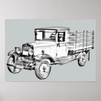 camión chevy 1929 ejemplo del cuerpo de la póster