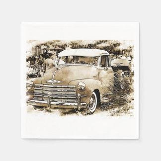 camión clásico de Chevy Chevrolet de los años 50 Servilletas Desechables