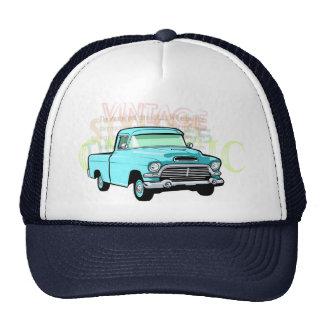 Camión clásico en recogida azul, muy vieja de la t gorros