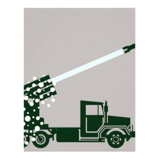 Camión de ataque con misiles membrete personalizado
