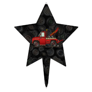 Camión de auxilio lindo de la grúa decoraciones de tartas