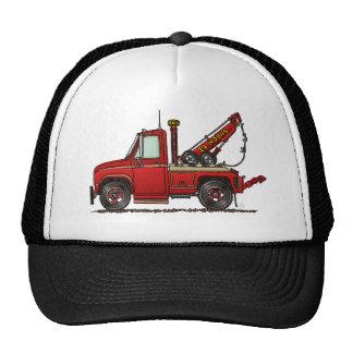 Camión de auxilio lindo de la grúa gorro de camionero