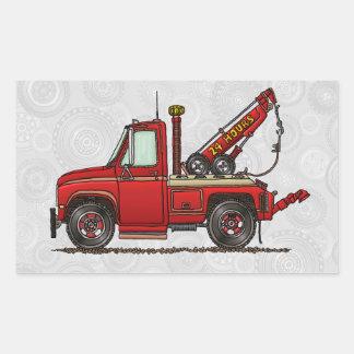 Camión de auxilio lindo de la grúa rectangular altavoces