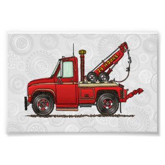 Camión de auxilio lindo de la grúa arte fotográfico