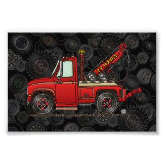 Camión de auxilio lindo de la grúa cojinete
