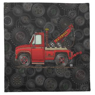 Camión de auxilio lindo de la grúa servilletas