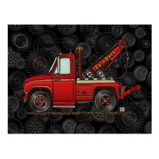 Camión de auxilio lindo de la grúa tarjetas postales