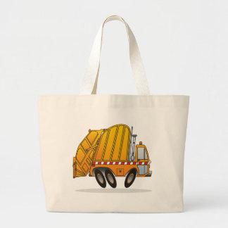 Camión de basura anaranjado bolsa tela grande