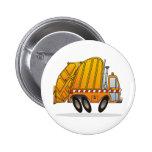 Camión de basura anaranjado pins
