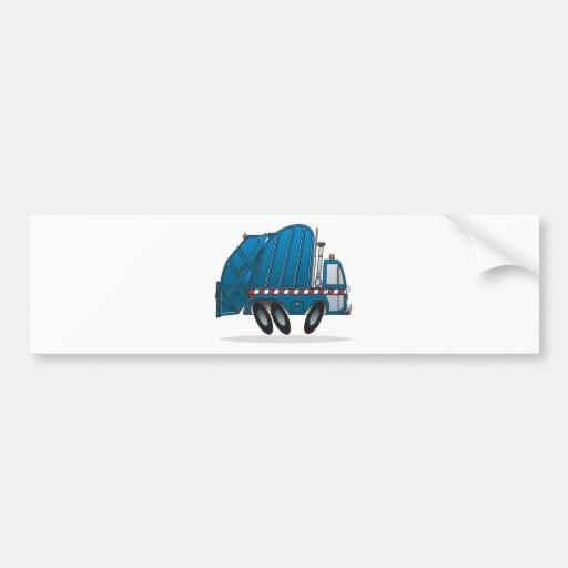 Camión de basura azul pegatina para auto
