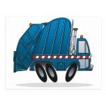 Camión de basura azul postal