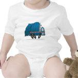 Camión de basura azul traje de bebé