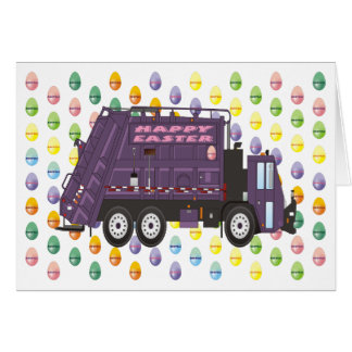 Camión de basura de Pascua Tarjeta De Felicitación