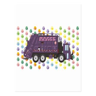 Camión de basura de Pascua Tarjetas Postales
