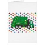 Camión de basura del navidad diciembre felicitacion