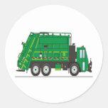Camión de basura etiqueta