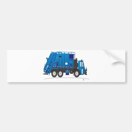 Camión de basura etiqueta de parachoque