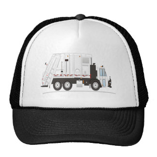 Camión de basura gorros bordados