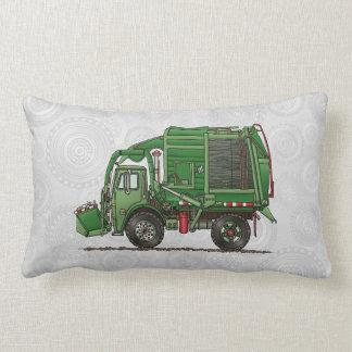 Camión de basura lindo del camión de basura cojín lumbar