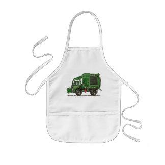 Camión de basura lindo del camión de basura delantal infantil