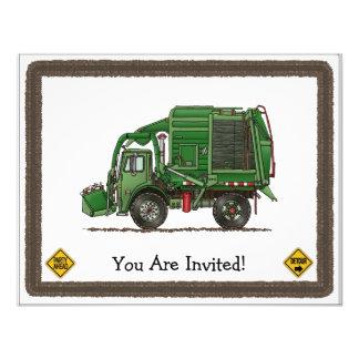 Camión de basura lindo del camión de basura anuncio