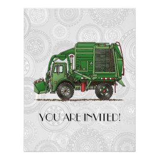 Camión de basura lindo del camión de basura anuncios