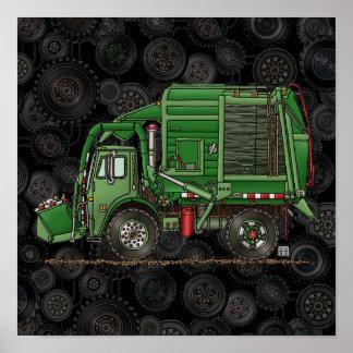 Camión de basura lindo del camión de basura poster