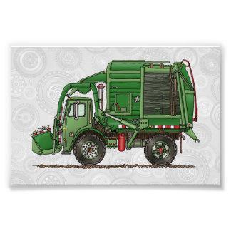 Camión de basura lindo del camión de basura arte fotográfico