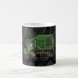 Camión de basura lindo del camión de basura tazas de café