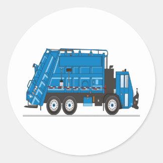 Camión de basura pegatina redonda