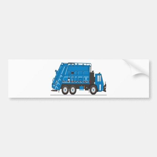 Camión de basura pegatina para auto