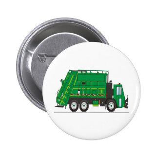 Camión de basura pin redondo de 2 pulgadas