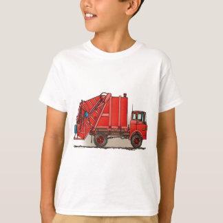 Camión de basura rojo playera