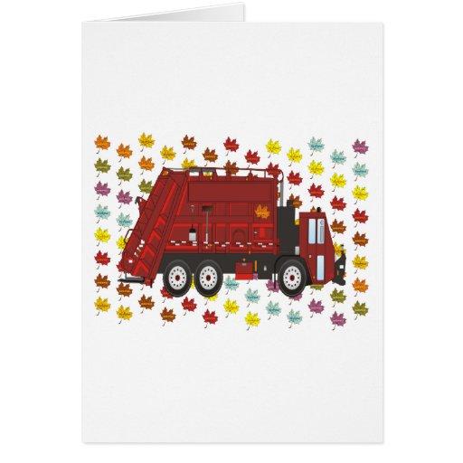 Camión de basura septiembre tarjeta de felicitación