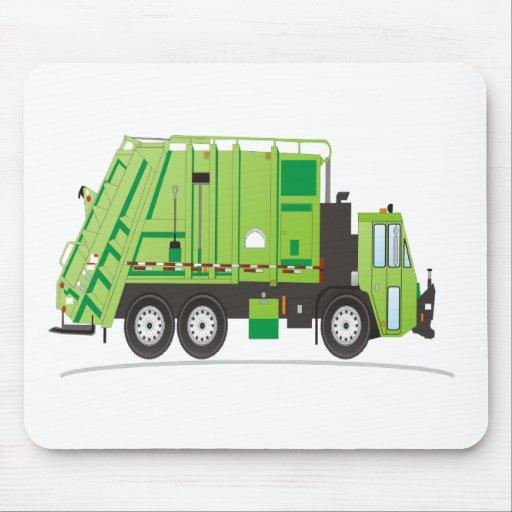 Camión de basura tapetes de ratón