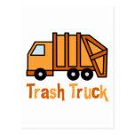 Camión de basura tarjetas postales